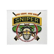 Sniper One Shot-One Kill Throw Blanket