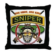 Sniper One Shot-One Kill Throw Pillow