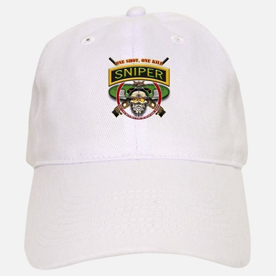 Sniper One Shot-One Kill Baseball Baseball Cap