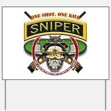 Sniper One Shot-One Kill Yard Sign