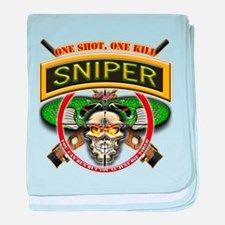 Sniper One Shot-One Kill baby blanket