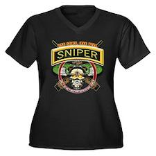 Sniper One Shot-One Kill Women's Plus Size V-Neck