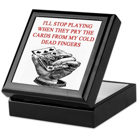 duplicate bridge player joke Keepsake Box