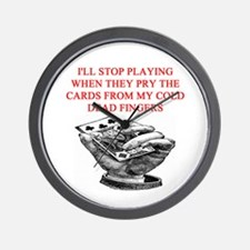 duplicate bridge player joke Wall Clock