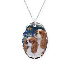 Lilies #5-Two Cavaliers (BL) Necklace