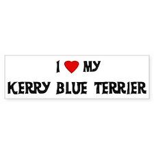 Kerry Blue Terrier Bumper Car Sticker