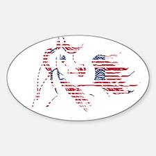 Patriotic Arabian Horse Decal