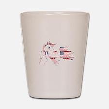 Patriotic Arabian Horse Shot Glass
