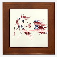 Patriotic Arabian Horse Framed Tile