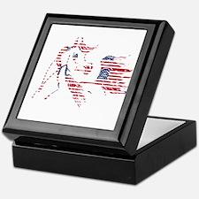 Patriotic Arabian Horse Keepsake Box