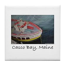 CASCO BAY LINES FERRY Tile Coaster
