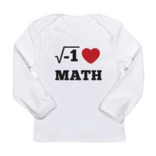 I Heart Math 1 Long Sleeve Infant T-Shirt