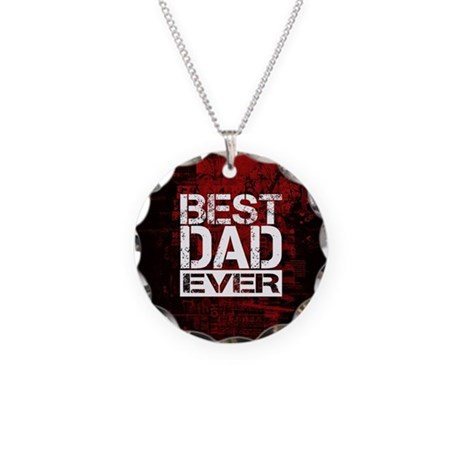 Best Dad Necklace Circle Charm