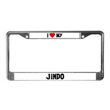 I Love My Jindo License Plate Frame