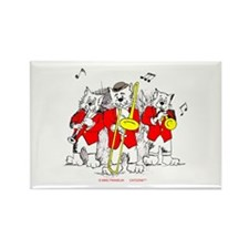 Jazz Cats Trio Rectangle Magnet