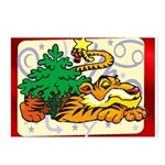 Tiger Christmas Postcards (Package of 8)