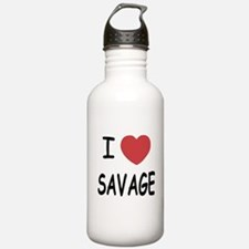 I heart savage Water Bottle