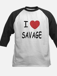 I heart savage Kids Baseball Jersey