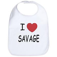 I heart savage Bib