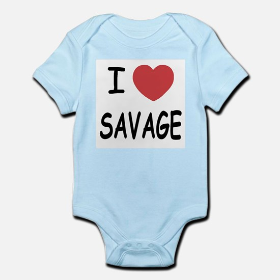 I heart savage Infant Bodysuit
