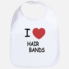 I heart hair bands Bib