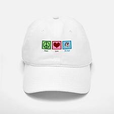 Peace Love Pit Bull Baseball Baseball Cap