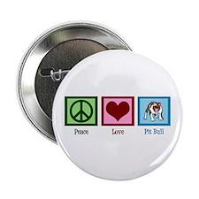 "Peace Love Pit Bull 2.25"" Button"