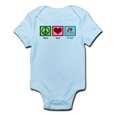 Peace Love Pit Bull Infant Bodysuit