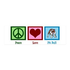 Peace Love Pit Bull Wall Decal
