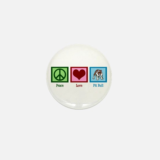 Peace Love Pit Bull Mini Button (10 pack)