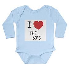 I heart the 60's Long Sleeve Infant Bodysuit