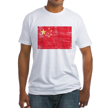 China Flag Fitted T-Shirt