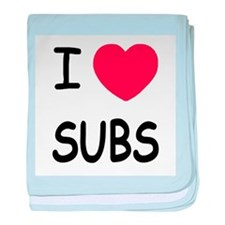 I heart subs baby blanket