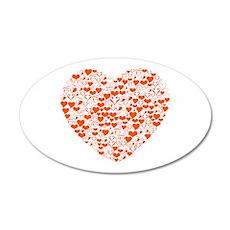 Heart of Hearts 38.5 x 24.5 Oval Wall Peel