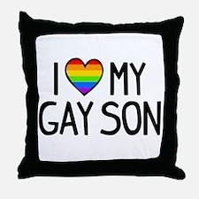 Love Gay Son Throw Pillow