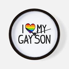 Love Gay Son Wall Clock