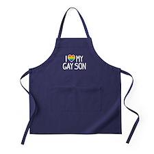 Love Gay Son Apron (dark)