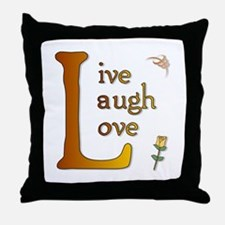 Big L - Live Laugh Love Throw Pillow