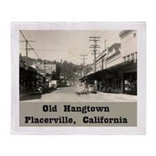 Old Hangtown Throw Blanket