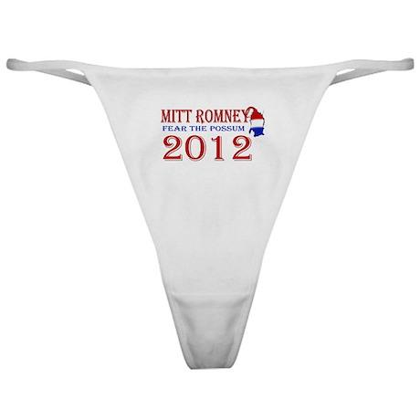 Mitt Romney 2012 Classic Thong
