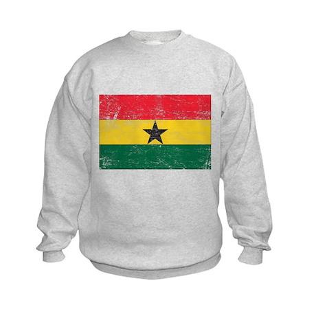 Ghana Flag Kids Sweatshirt