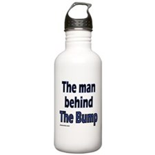the man behind the bump Water Bottle