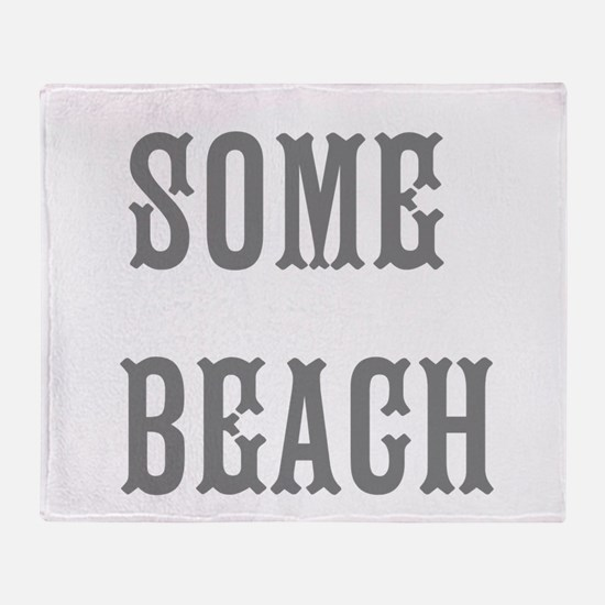 some beach Throw Blanket