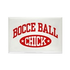 Bocce Ball Chick Rectangle Magnet