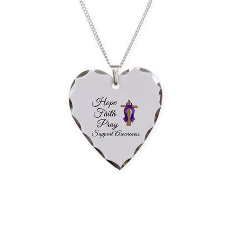 Support Awareness - Lupus Cro Necklace Heart Charm