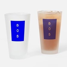 Bob Personalized Blue Dover Tumbler Pint Glass