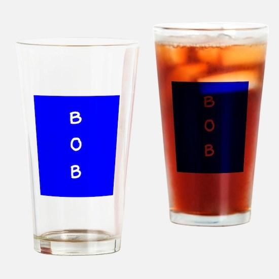 Bob Personalized Blue Dover Tumbler Pint Glass