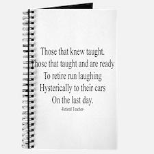 Retired Teacher Journal