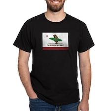 California Surfing Bear Flag T-Shirt