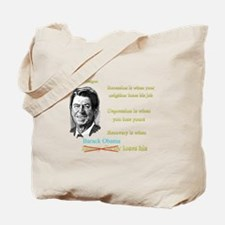Ronald reagan quote recovery Tote Bag